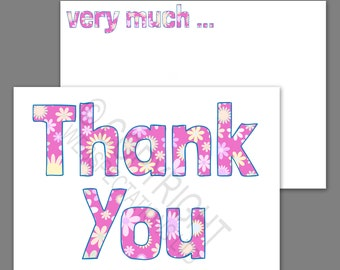 1-100 Pack of Thank You Cards Postcards Notes Envelopes A6 Heart Multi Pack
