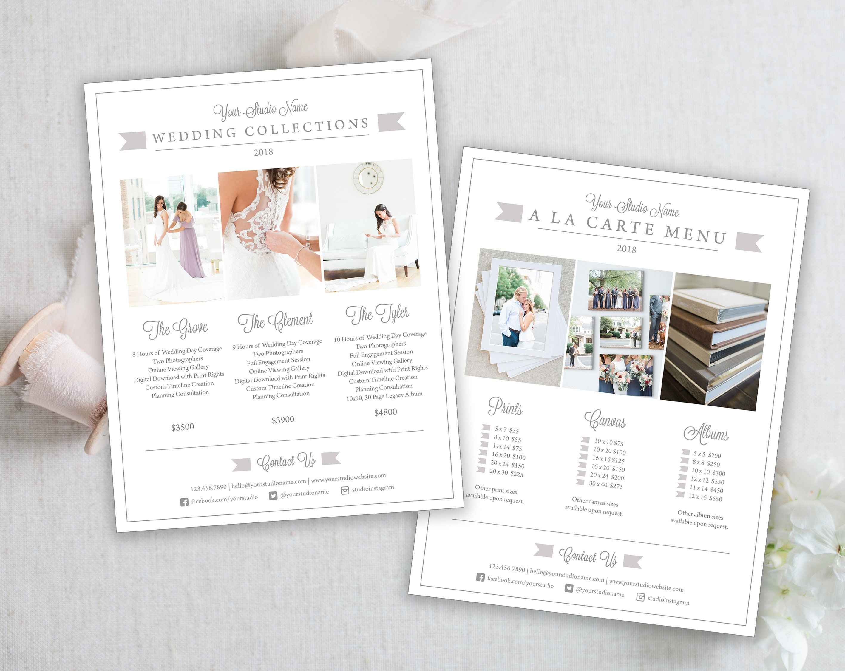 Wedding Photography Pricing Template Studio Guide Etsy Jpg 2833x2250 Album 5x7 Pictures 11x14