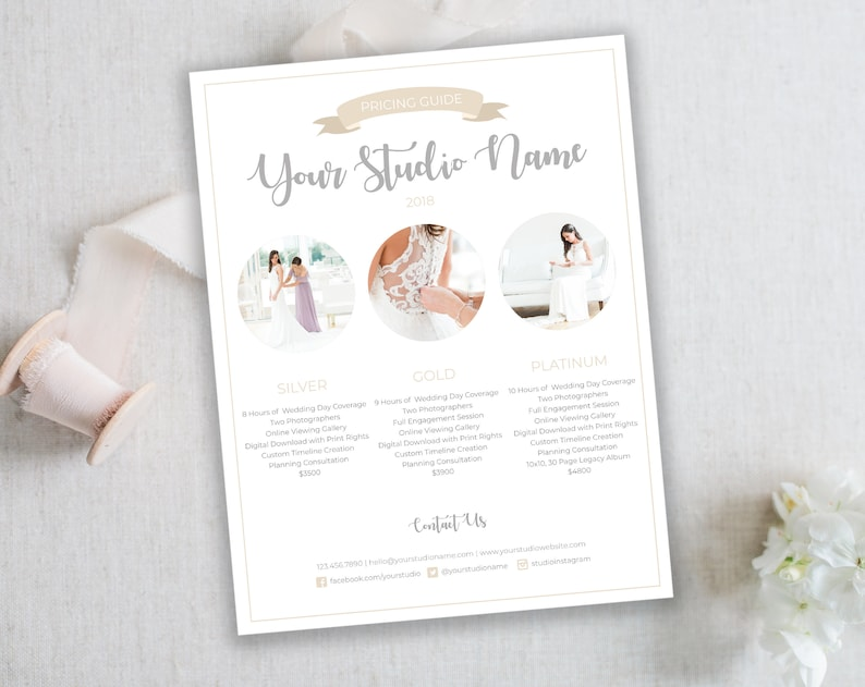 Photography Pricing Template  Wedding Photography Pricing Guide Price List   Template for Photographers  Prices  INSTANT DOWNLOAD