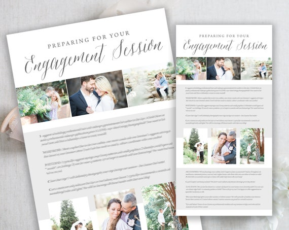 Bridal Prep Guide. Photography Client Prep Guide Style Guide Template Bridal Guide Engagement Guide Photography Style Guide