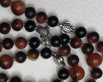 Tiger Eye and Honu Necklace