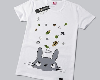e092162e2c63 Anime Manga My Neighbor TOTORO Mesh Grey Totoro White Background Tees Top T  Shirt Short Sleeves Super Comfy Material
