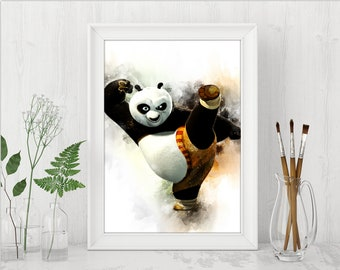 Po Kung Fu Panda Printable Art Print Kung Fu Panda Print Kung Fu Panda Dreamworks Instant Download Birthday Printable Art n496
