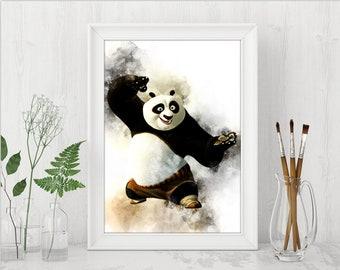 Po Print Kung Fu Panda Printable Art Print Kung Fu Panda Print Kung Fu Panda Dreamworks Instant Download Birthday Printable Art n497