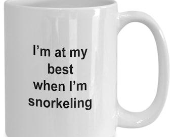At my best when i'm snorkeling mug
