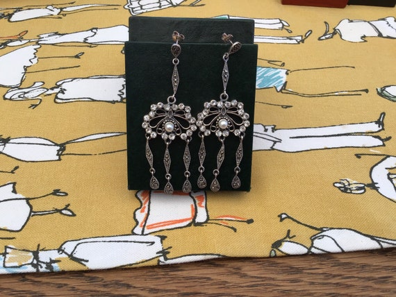 Pair of must have of Silver Art Nouveau  Earrings