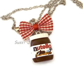 Funny Gifts Polymer Clay Food Jewelry Miniatures Charms Nutella Gifts Chocolate Necklace SKU: FN3-5