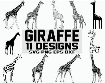 Giraffe Svg Clipart Etsy
