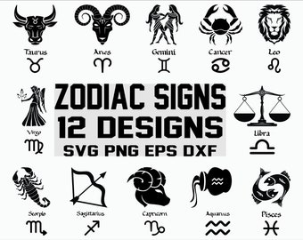 bcc5aa3b8 Astrology signs/ Zodiac Sign/ Astrology Horoscope/ Clipart/ Cut File/  Cricut/ Vector
