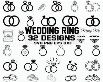 Diamond Ring Svg Etsy