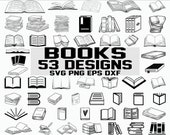 Book svg open book svg library svg school svg monogram clipart decal stencil image digital eps dxf svg cut file