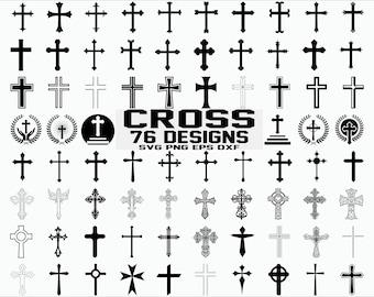Cross Svg Files Etsy