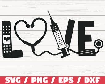 Nurse Love Svg Etsy