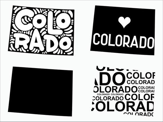 Colorado Svg Colorado Clipart Colorado State Svg Cricut Etsy