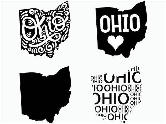 Ohio Svg File Ohio Silhouette Svg Ohio State Svg Cricut Etsy