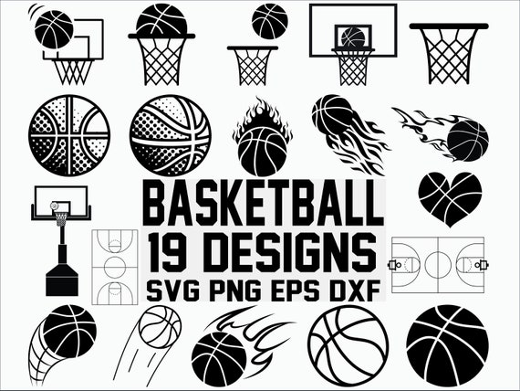 Basketball Svg Sports Svg Basketball Court Svg Clipart Etsy