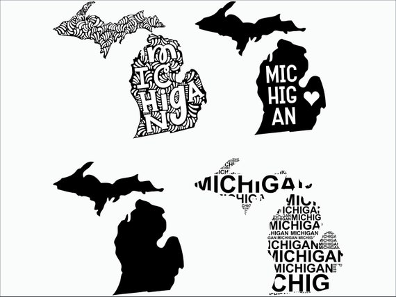 Michigan Svg Michigan Clipart Michigan State Svg Cricut Etsy