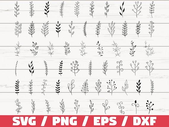 61 Leaf svg file/ Leaves svg file/ Branches svg file/ Leaves clipart/ Leaf cricut/ Hand drawn leaves/ Leaf silhouette/ Plant/ Cut file