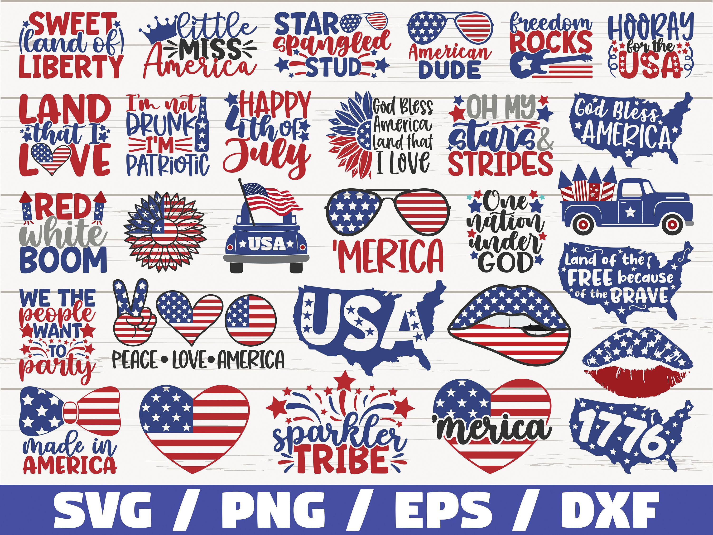 4th Of July SVG Bundle / Cut Files / Clip art / Commercial use / Independence Day / Patriotic Svg / America Svg / Veteran Svg / USA SVG