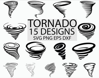 Tornado svg/ hurricane svg/ typhoon svg/ storm svg/ clipart/ decal/ stencil/ silhouette/ eps/ png/ dxf/ vinyl/ cut file/ iron on