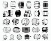 27 Barrel SVG Wood Barrel SVG Beer Keg Svg Commercial Use Cricut Cut Files Clipart Silhouette Dxf Vector
