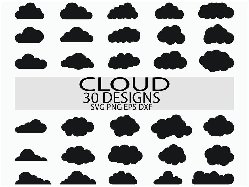 Cloud svg file/ Cloud clipart/ Cloud vector/ Cloud bundle Svg/ Cloud clip  art/ Cloud cricut/ Clouds silhouette/ Cloud cut file/ Digital file