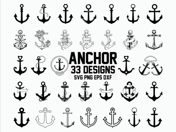 Anchor Svg Nautical Svg Anchor Clipart Cut File For Etsy