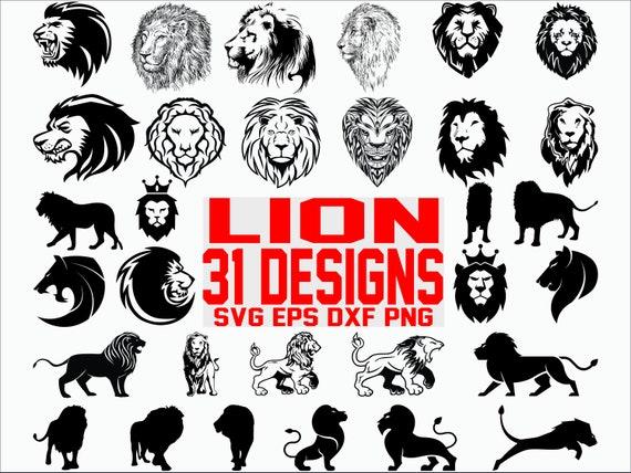 Lion Svg Bundle Lion Head Svg Wild Animal Svg African Etsy