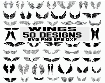 wings template etsy