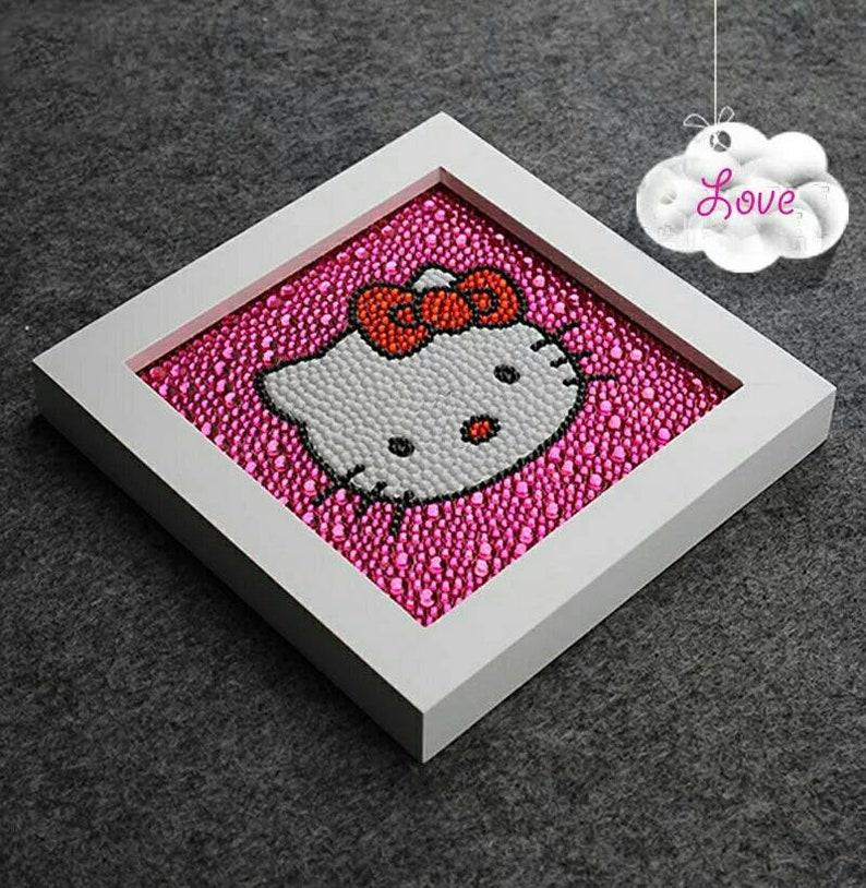d92284a07 Diamond Painting Hello Kitty Diamond PaintingDiy Mosaic | Etsy