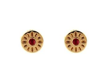 18k rose gold ruby earrings timeless