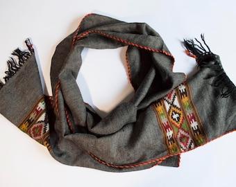 Wool and acrylic scarf/acryl and wool Scarf (216 x 26.5) cm