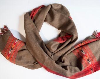 Acrylic and wool shawl/shawl/acrylic and wool shawl (194 x 70) cm