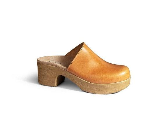 Swedish Clogs Low Heel ClogsClassic ClogsShoesClogsWomens shoes Leather Shoes Women/'s ClogsHandmadeComfortable Shoes Brett LOW