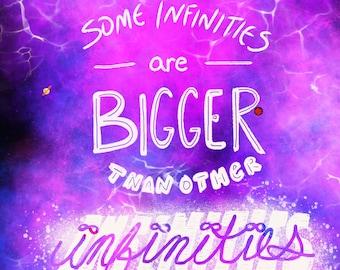 Some Infinities Are Bigger Than Other Infinities - Digital Art Work