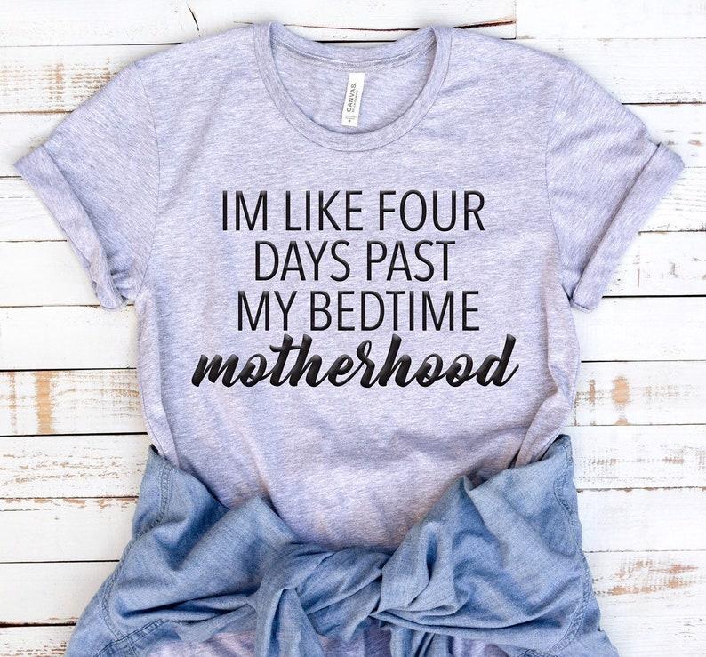 baaaf12375 Mom Life Shirt Motherhood T Shirt Funny Mom Graphic Tee | Etsy