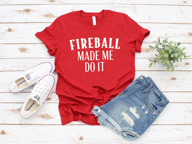 d40c53336 Fireball Made Me Do It Vacay / Vacation Funny Graphic Tee for | Etsy