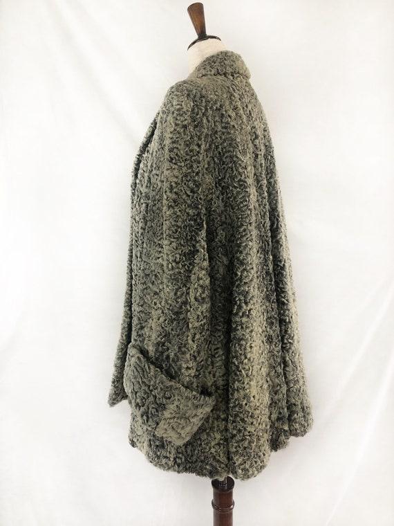 1940s Persian Lamb Wool Coat | 40s Silver Persian… - image 5