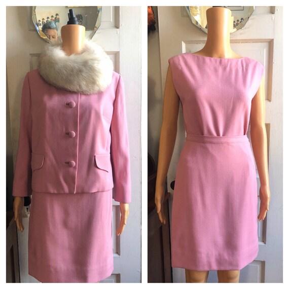 1960s Lilli Ann Skirt Set | 1960s Pink Lilli Ann S