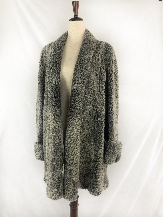 1940s Persian Lamb Wool Coat | 40s Silver Persian… - image 3