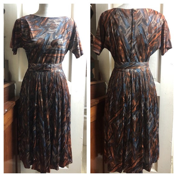 1960s Brown Dress | 1960s Orange Dress | 1960s Blu