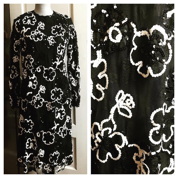 1960s Mod Sequined Dress | 1960s Sequined Cocktail