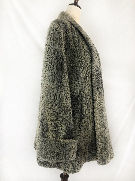1940s Persian Lamb Wool Coat | 40s Silver Persian… - image 4