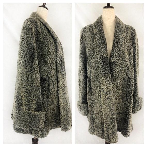 1940s Persian Lamb Wool Coat | 40s Silver Persian… - image 1