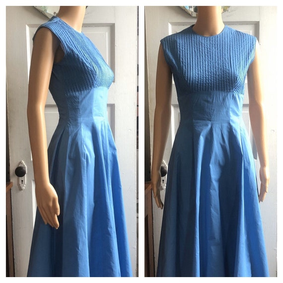 1950s Blue Sundress | 1950s Day Dress | 1950s Dori