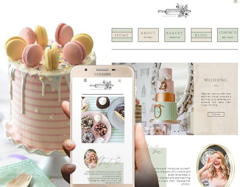 WIX Website Template  Online Shop Layout  Premade Design  image 0