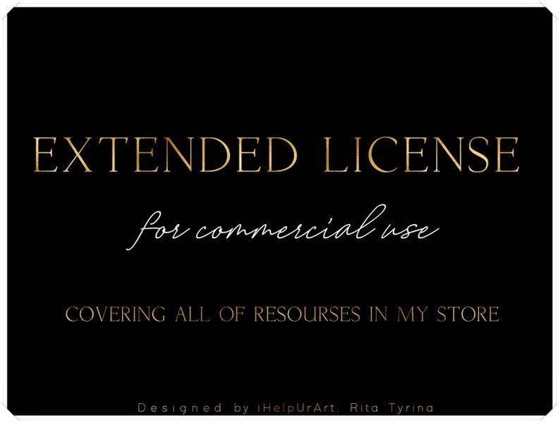Extended License  Unlimited Commercial Use  No Credits image 0
