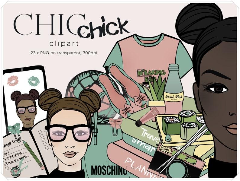 Geek Girl Clipart  Fashion Illustration Clip Art  Back to image 0