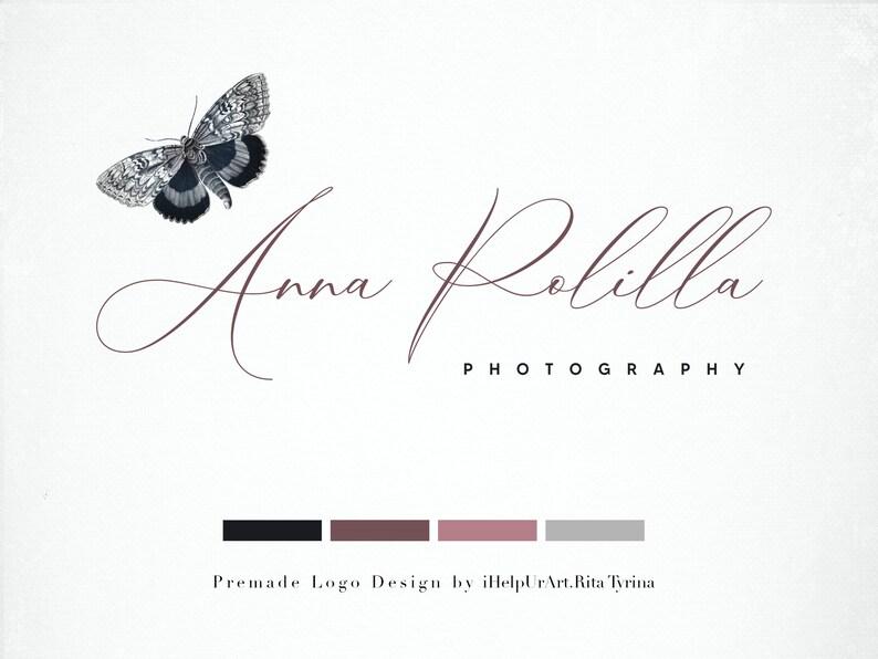 Butterfly Logo  Premade Logo Design  Photography Logo  image 0