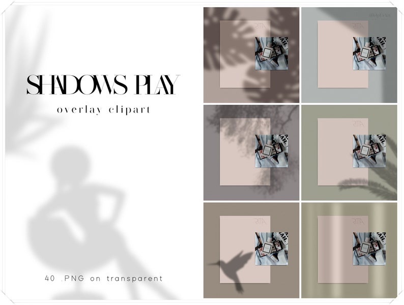 Realistic Shadow Overlay Clipart  Shadows Photo Overlays  image 0